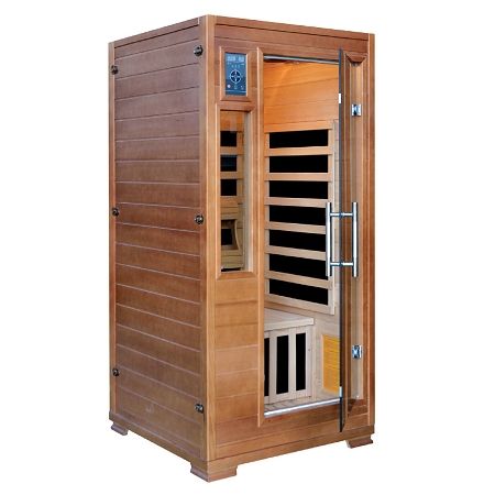infrared 1 person majestic sauna w 5 deluxe carbon heaters. Black Bedroom Furniture Sets. Home Design Ideas