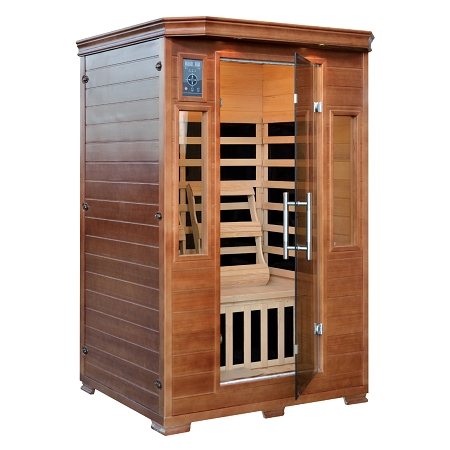 infrared 2 person majestic sauna w 6 deluxe carbon heaters. Black Bedroom Furniture Sets. Home Design Ideas