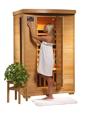 Infrared 2 Person Sauna with Ceramic Heaters - Coronado Series SA2406