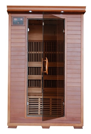 Yukon - 2 Person Cedar Carbon Infrared Heatwave Sauna