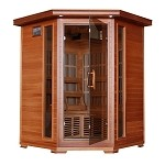 Hudson Bay- 3 Person Cedar Carbon Corner Unit