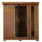 Klondike - 4 Person Cedar Infrared Sauna With Carbon Heaters