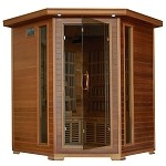 Whistler - 4 Person Cedar Corner Carbon Infrared Heatwave Sauna