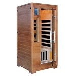 Infrared 1 Person Majestic Sauna w/ 5 Deluxe Carbon Heaters