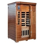 Infrared 2 Person Majestic Sauna w/ 6 Deluxe Carbon Heaters