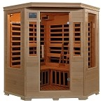 Genesis 3 Person Corner Infrared Sauna w/ Carbon Heaters